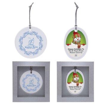 Ceramic Ornament - Round - Personalization Available
