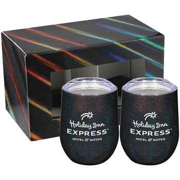 Irredescent Corzo Cup 12oz 2 in 1 Gift Set - Personalization Available