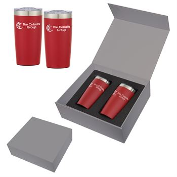 Red Two-Tone Himalayan Tumbler Gift Set 20-Oz. - Personalization Available