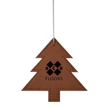 Leatherette Tree Ornament - Personalization Available