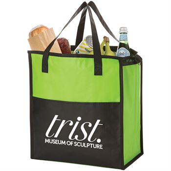 Matte Laminated Zippered Insulated Tote - Personalization Available