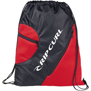 Zippered Mesh Drawstring Sportspack - Personalization Available