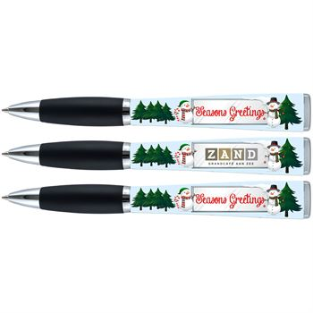 Christmas Tree Seasons Greetings Three-Sided Ad Pen - Personalization Available
