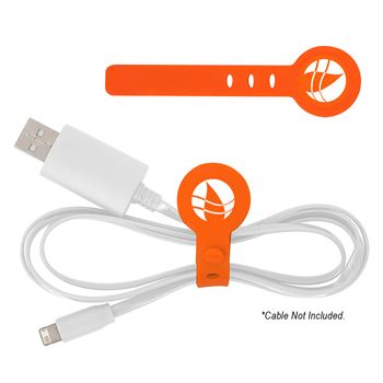 Adjustable Silicone Cable Tie - Personalization Available