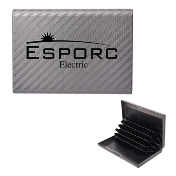 RFID Carbon Fiber Pattern Aluminum Card Case - Personalization Available
