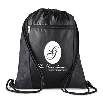 Constellation Polyester Drawstring Backpack - Personalization Available