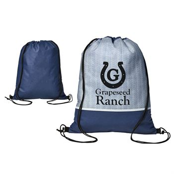 Delphine Non-Woven Drawstring Backpack - Personalization Available