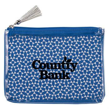 Geometric Cosmetic Bag - Personalization Available