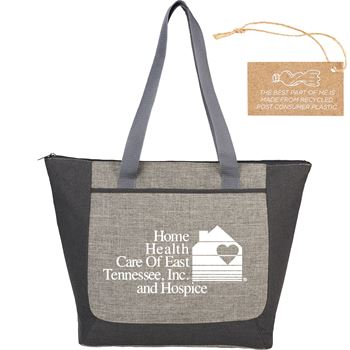 Reclaim Two-Tone Recycled Zippered Tote - Personalization Available
