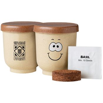 Goofy Group™ Grow Pot Eco Planter With Basil Seeds - Personalization Available