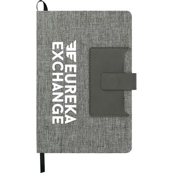 Heathered Journal With Business Card Pocket- Personalization Available