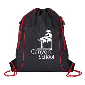 Seville Drawstring Bag with Color Accents - Personalization Available