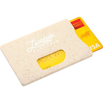 Wheat Straw RFID Card Holder - Personalization Available