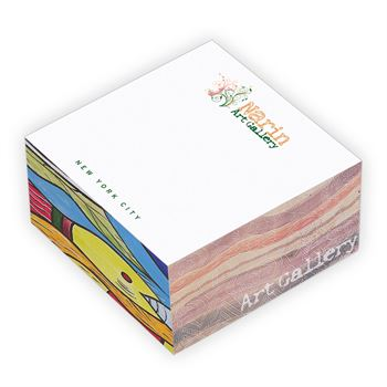 Eco Friendly Non-Adhesive Cube - Full Color Personalization Available