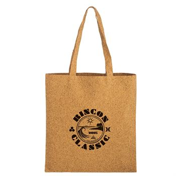 Trendy Cork Tote Bag With Matching Handles - Personalization Available