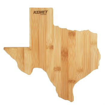 Texas Shape Bamboo Cutting Board - Personalization Available