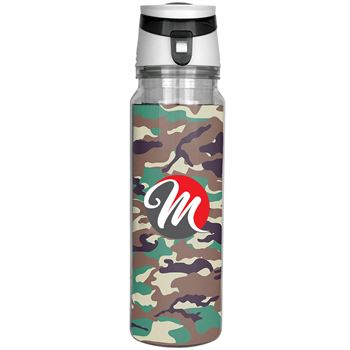 Trendy Full Color Insert Bottle Camo 18 oz. - Personalization Available
