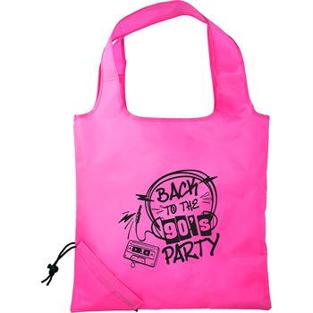 Neon Bungalow Foldaway Tote - Personalization Available