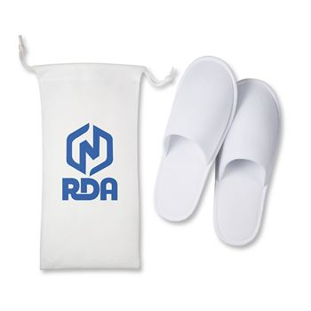Travel Slippers In Pouch - Personalization Available
