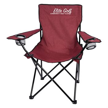 Heathered Folding Chair With Carrying Bag - Personalization Available