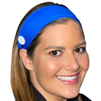 American Made Solid Color Headband with Sewn Buttons