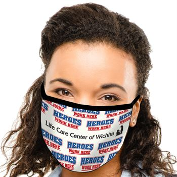 Heroes Work Here American Made 3-Ply Mask - Personalization Available