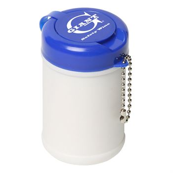 Travel Well Sanitizer 30 Wipes Key Chain - Personalization Available