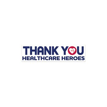 Thank You Health Care Heroes Bumper Sticker - Rectangle