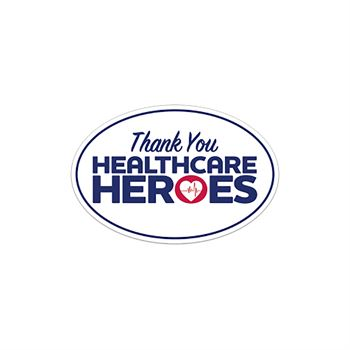Thank You Health Care Heroes Bumper Sticker - Oval
