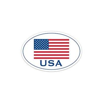 Flag USA Bumper Stick-Oval