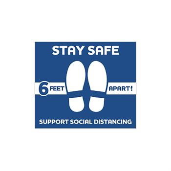 Stay Safe Support Social Distancing Floor Decal