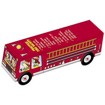 Practice Fire Safety Every Day Fire Truck Paper Cutout
