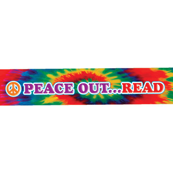 Peace Out... Read Paper Bracelet