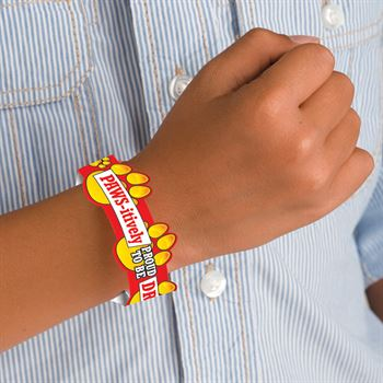 Pawsitively Proud To Be Drug Free 2-Sided Die-Cut Paper Bracelet