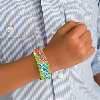 Field Day: Best Day Ever 2-Sided Green Paper Bracelets