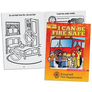 I Can Be Fire Safe Parent-Child Learning Activities Book - Personalization Available