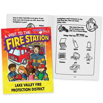 A Visit To The Fire Station Parent-Child Learning Activities Book - Personalization Available