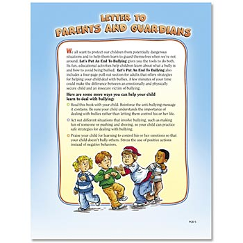 Let's Put An End To Bullying Parent-Child Learning Activities Book - Personalization Available
