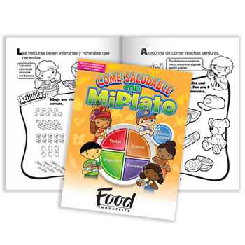 Eat Healthy With MyPlate Spanish Language Parent-Child Activities Book - Personalization Available