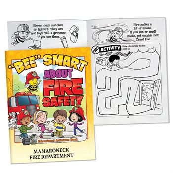 """BEE"" Smart About Fire Safety Educational Activities Book - Personalization Available"