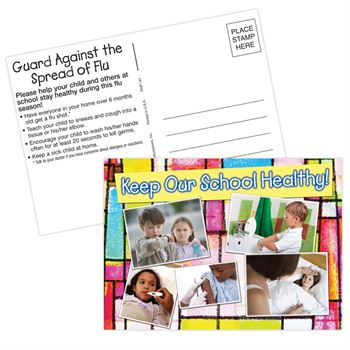Keep Our School Healthy Postcard - Personalization Available