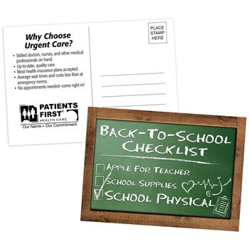 Back-To-School Checklist School Physical Postcard - Personalization Available