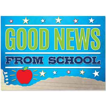 Good News From School Postcards