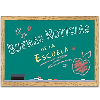 Good News From School (Spanish) Postcards