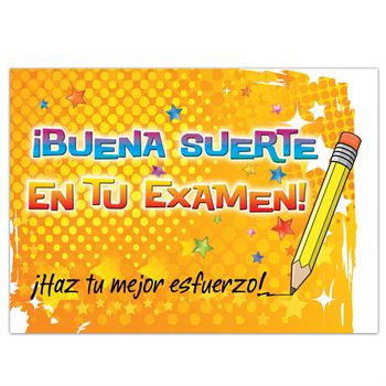 Good Luck On The Test! Do Your Best! Test-Taking Postcard For Parents (Spanish Version)
