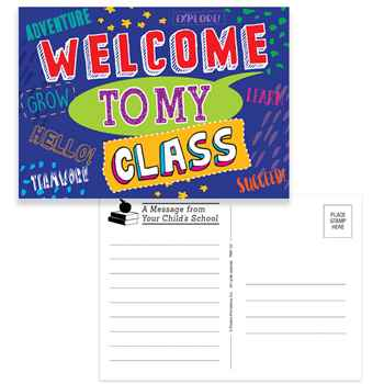 Welcome To My Class Postcards