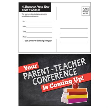 Parent Teacher Conference Reminder Postcard
