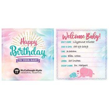 Happy Birthday / Welcome Baby Crib Card