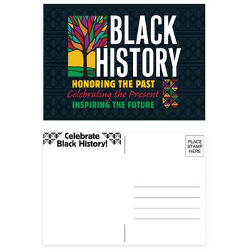 Black History: Honoring The Past, Celebrating The Present, Inspiring The Future Postcard - Pack of 25
