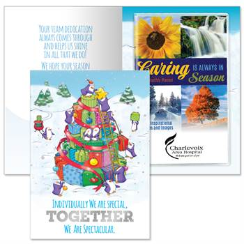 Individually We Are Special, Together We Are Spectacular Greeting Card With 2020 Caring Is Always In Season Planner - Personalization Available